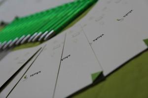 Unsere tollen synyx Kugelschreiber und die Flyer